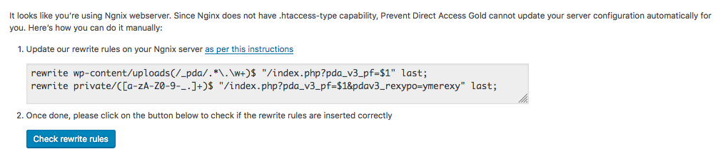 NGINX Support - Prevent Direct Access