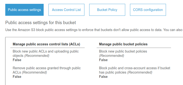 How to Create Amazon S3 Bucket and Get User Access Key - Prevent