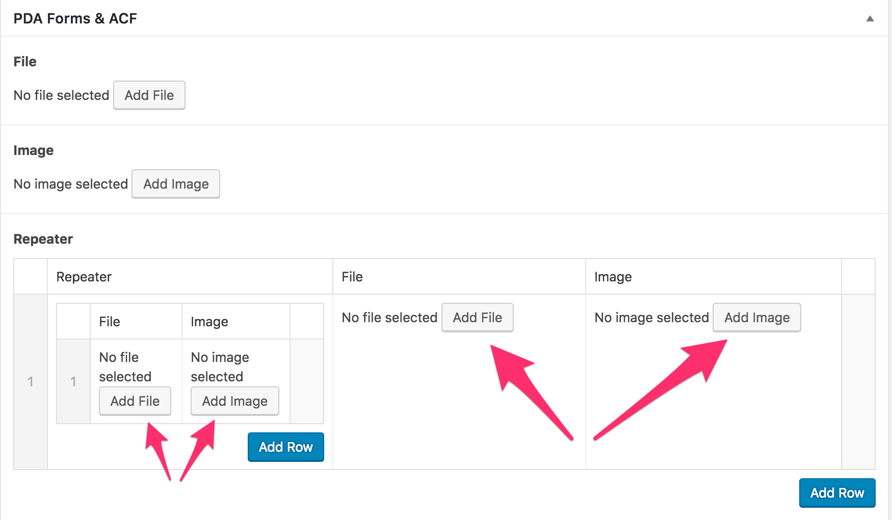 How to protect file uploads through ACF Repeater Field