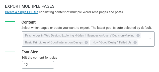 Export Multiple Wordpress Pages Posts To Single Pdf Prevent Direct Access