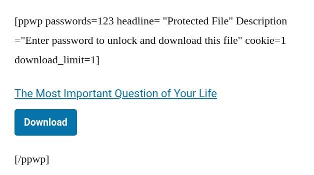 short-code password protect PDF