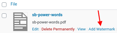 Watermark WordPress Files