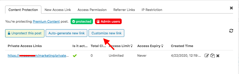 pda-create-private-links