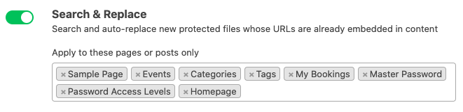 Protect all WordPress media files at once: search & replace