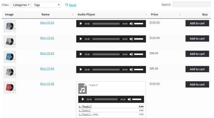Add Virtual and Downloadable Products to your WooCommerce Store Product table