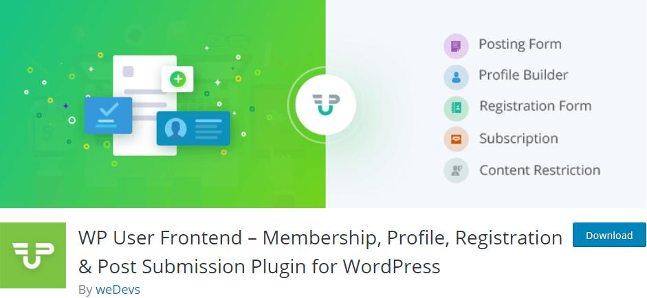 WordPress Front-end File Upload WP User plugin