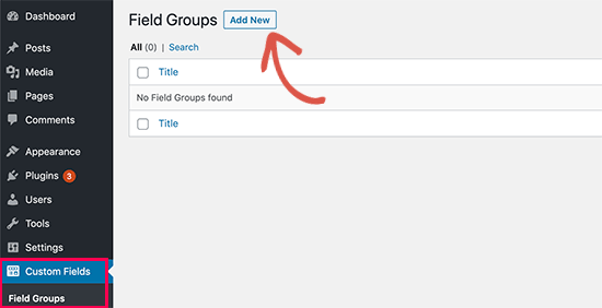 WooCommerce add new field groups