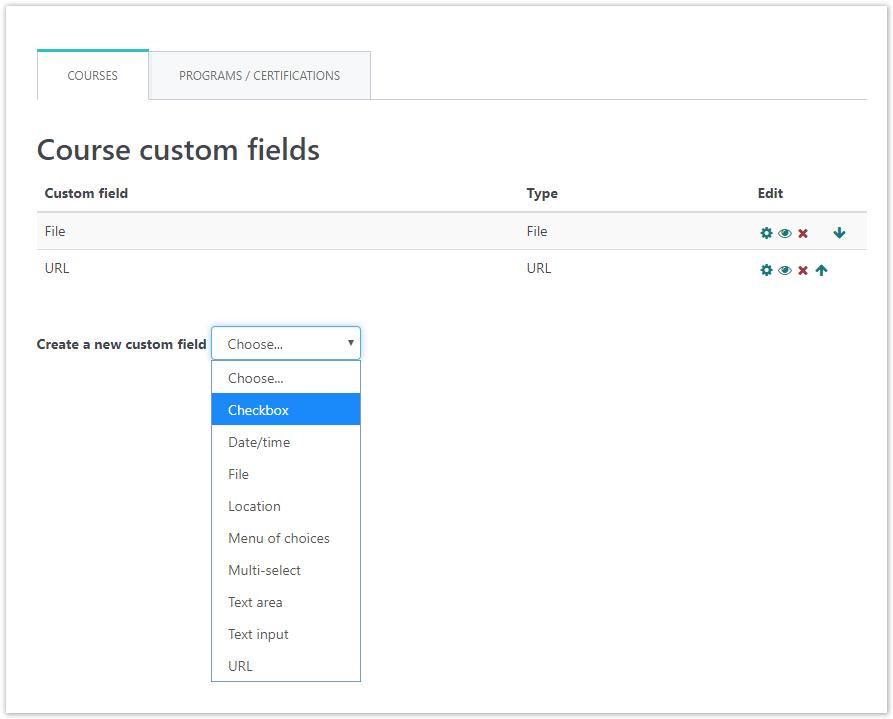 WooCommerce Course custom fields