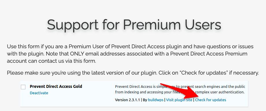 WordPress plugins premium support