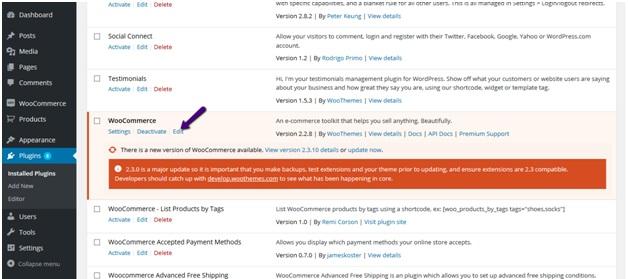 WooCommerce edit plugin