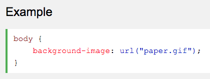 Insert images through css