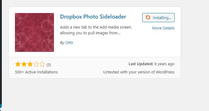 Dropbox photo slideloader