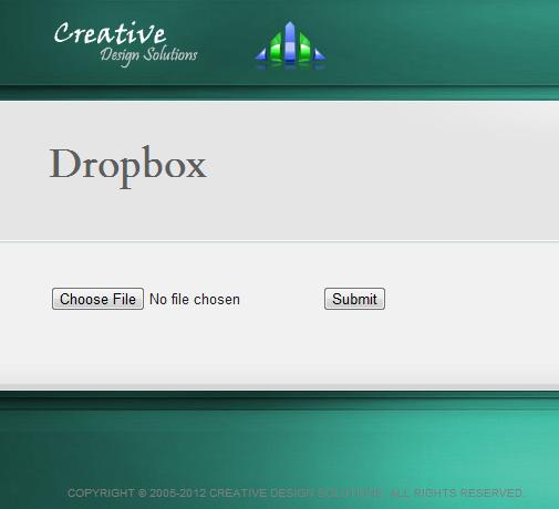simple dropbox upload