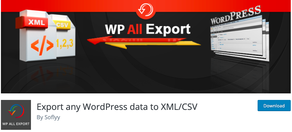 WP all export plugin