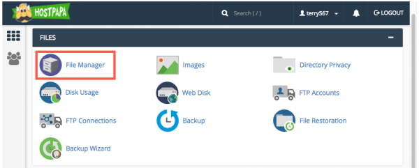 file manager cpanel